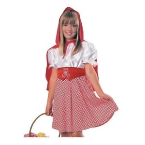 Kids Girls Red Riding Hood Dress Outfit Costume