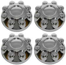 2005-2009 DODGE RAM 1500 2500 3500 8 LUG WHEEL CHROME CENTER CAPS SET NEW