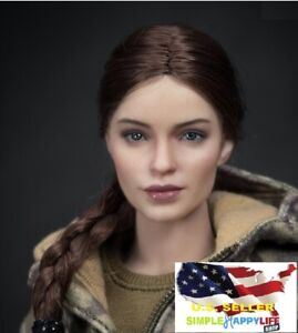 """1/6  Russian Female Soldier Head Sculpt for Phicen 12"""" figure hot toys ❶USA❶"""