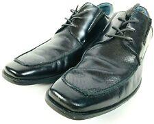 Mens Steve Madden Black Leather Dress Shoes Size 9.5