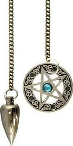 Metal Pendulum with Pentacle Charm!