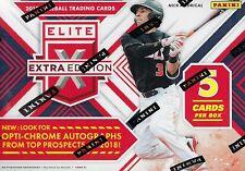 2018 Panini ELITE EXTRA EDITION Baseball Cards 5c Retail Blaster Box = Pink PC