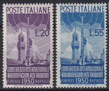 """1950 Italy Republic """"broadcasting"""" nr.623/624 NEW MLH *"""