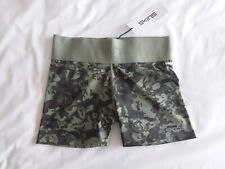 Skins - Ladies DNAmic Primary Gym Shorts - BNWT- Size S - Peony Olive Green