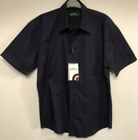 Ben Sherman Shirt Mens Size M Short Sleeve Carnaby Fit Navy NWT