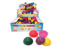 SUPER DOME POPPER 32MM 1 PC ASSORTED COLOURS POP BALL PUSH FLY NOVELTY TOY KIDS