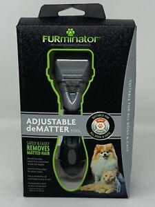Furminator Adjustable Dematter Brush For Cats & Dogs Long Or Short Hair