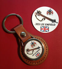 .303 LEE ENFIELD SNIPER RIFLE  LEATHER KEY RING  &  LEE ENFIELD  STICKER