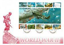 GAMBIA FDC, WWII IN THE PACIFIC, MINIATURE SHEET, CACHETED