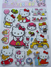 New Vinyl Tough 3D Hello Kitty Wall Children Craft Stickers Size:20 x 30cm PA