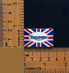 Triumph Motorcycle British Flag Logo, Metal badge/ Lapel Pin