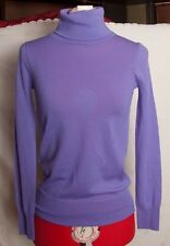 J.Crew Purple Merino Wool Long Sleeve Turtle Neck Sweater Size XXS