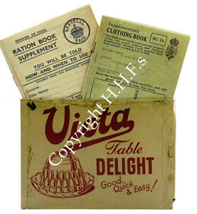 1940's WW2-BLITZ-Replica Ration Book-Clothing Book with Ration Book Holder