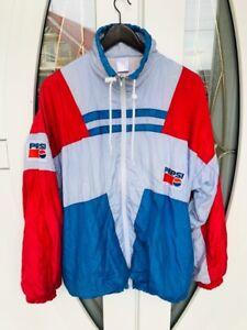 Vintage Pepsi Windbreaker Jacket Zip Up Logo Size M