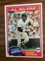 1981 Topps #400 Reggie Jackson New York Yankees NrMt