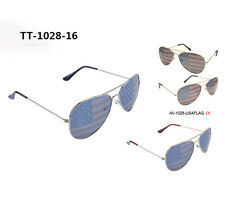 Wholesale 12pcs Men's Women American Flag Aviator Retro Vintage  Sunglasses
