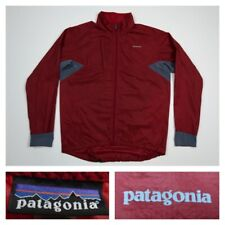 Patagonia Men's Houdini Red Gray Full-Zip Windbreaker Jacket Packable Small New