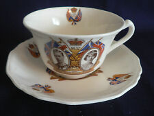 ALFRED MEAKIN 1937 LONG MAY THEYREIGN HM GEORGE AND HM ELIZABETH TEA CUP- SAUCER