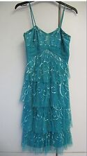 Frank Usher Turquoise Party / Prom / Cruise Dress - Size 10 - VGC