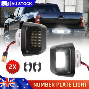 2x 18 LED License Number Plate Light For Nissan Navara D40 Bumper Trailer Lamp