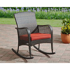 Wicker Rocking Chair Porch Rocker Patio Furniture Outdoor Seat All Weather  NEW