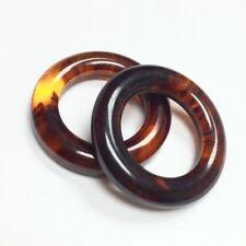 Vintage Bakelite Beads - Tortoise Rings Small - 19589