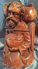 Vintage Wood Hand Carved Wooden Handcarved Man statue Figure