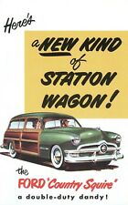 1950 FORD V-8/6  STATION WAGON(COUNTY SQUIRE) SALES BROCHURE