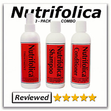 3 PACK COMBO NUTRIFOLICA HAIR REGROW TREATMENT SHAMPOO CONDITIONER SHEDDING THIN