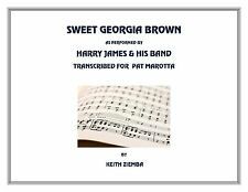 Jazz Ensemble Sweet Georgia Brown transcription of Harry James Band version. NEW