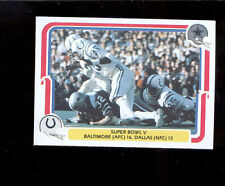 1980 Fleer WALT GARRISON Dallas Cowboys Baltimore Colts Super Bowl V Card