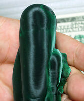 Two Large Intertwined Chatoyant Malachite Crystals w/ Great Silky Luster mat9012