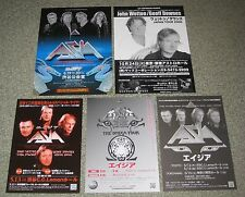 ASIA Japan PROMO handbill & flyer x 5 set MINI POSTER Yes STEVE HOWE John Wetton