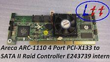 Areca arc-1110 4 Port pci-x133 to SATA II RAID Controller e243739 internamente