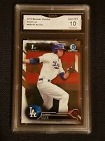 * GEM MINT 10 * GAVIN LUX 2016 BOWMAN CHROME draft ROOKIE #BDC67 dodgers