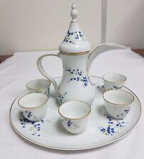 Bernardaud Limoges Myosotis Pattern Arabo servizio da caffè per 6