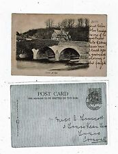 POST CARD EARLY PRINTED IRVON BRIDGE BUILTH