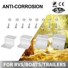 4 pcs Solar Panel Z-Bracket  Mounting Flat Roof Yacht RV Mount Aluminum kit