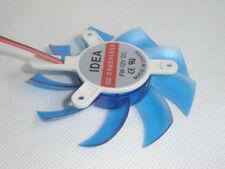 2Pin 75mm 7.5cm Blue 3 Hole 9 Blades PC VGA Video Graphics Card Cooling Fan