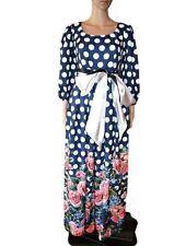 Womens Retro Spotty Pattern Texture Floral Heavy Victorian Maxi Dress sz 10 AU71