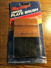 "Vintage (1983) MacGregor Wood Baseball Umpire Home Plate Brush **New "" NIP"