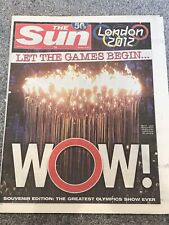 **LONDON OLYMPIC GAMES 2012 UK THE SUN NEWSPAPER 28th JULY 2012**