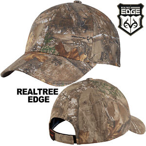 Realtree Edge Camo Hat Baseball Cap Hunting Structured Adjustable Camouflage New