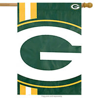 "Green Bay Packers Bold Logo House Flag NFL Licensed Banner Flag  24"" x 36"""