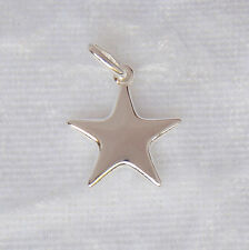 Sterling Silver Puffed Star Charm/pendant 15mm 925