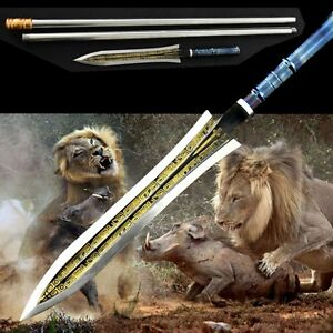 Wild boar Sword Overlord Spear pike lance High manganese steel blade sharp #0093