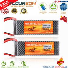 2X 4S1P 14.8V 2200mAh 45C Li-Po RC Battery Deans for RC Car Truck Drone FPV Boat