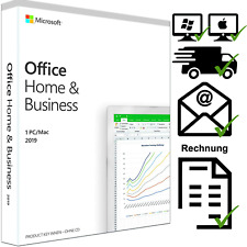 Microsoft Office Home and Business 2019 - PC oder MAC - Email - DE - Vollversion