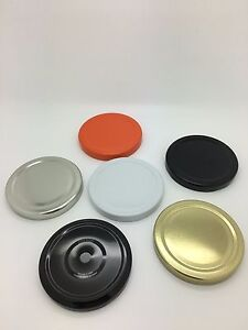 Replacement Jam Jar Lids 70mm Twist Off  in choice of colours - Pack of 50