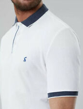 Joules Mens Hanfield Polo Shirt - white Size S
